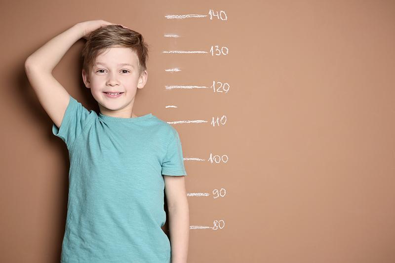 การเปลี่ยนทางร่างกายของวัยรุ่น ในด้านความสูง